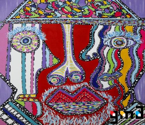 두얼굴의 신사 , 116.8x91.0cm , acrylic on canvas  , 2014
