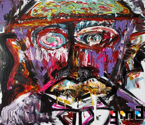 신사의 품격 , acrylic on canvas , 116.8x91.0cm , 20