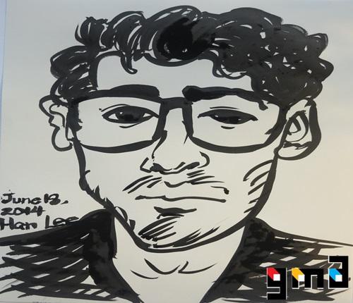 Aditya, ink on paper, 2014