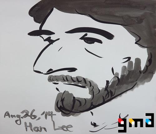 Al Pacino, ink on paper, 2014