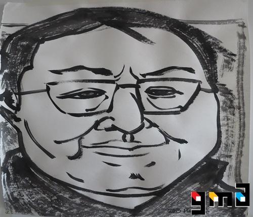 Li Keyou, ink on paper, 2015